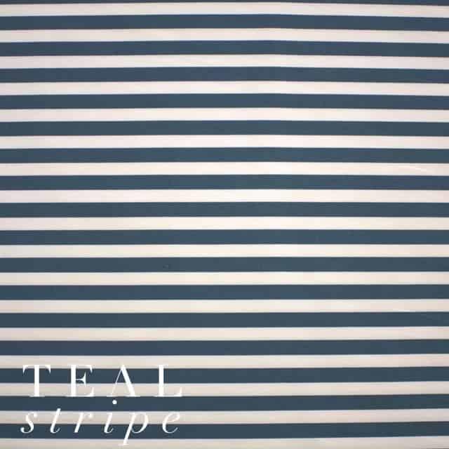 Teal Stripe Fabric-0