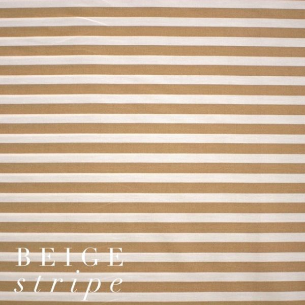 Beige Stripe Fabric-0